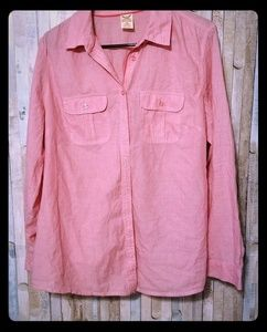 Faded Glory red button down women's shirt size 16